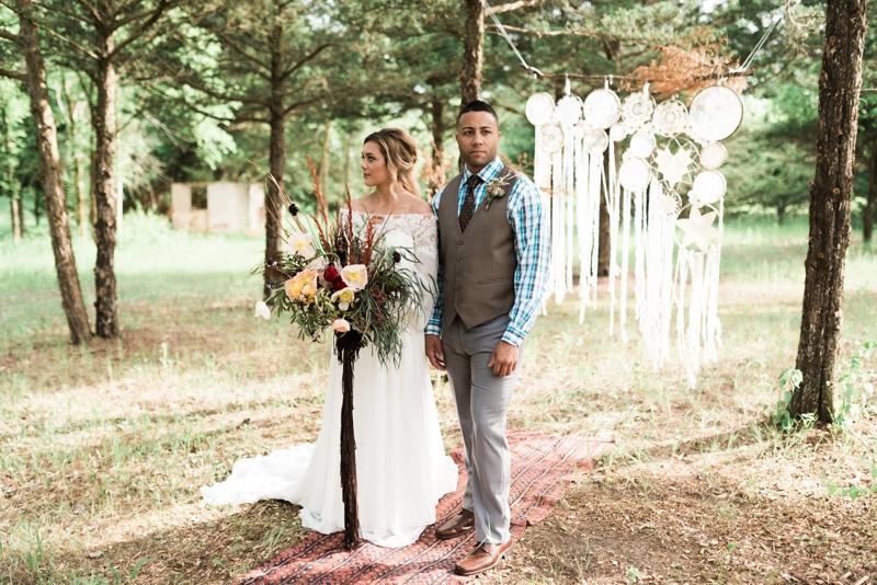 boho western lincoln ne wedding styled session